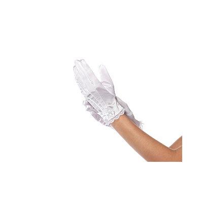 White Lace Trim Satin Child Glove $9.99 AT vintagedancer.com