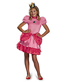 Tween Princess Peach Costume - Mario Bros