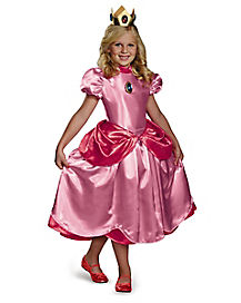 Kids Princess Peach Costume Deluxe - Mario Bros