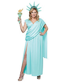 Lady Liberty Adult Womens Plus Size Costume