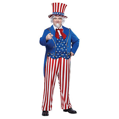 Uncle Sam Adult Plus Size Costume