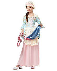 Kids Patriotic Colonial Lady Costume