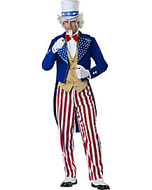 Adult Uncle Sam Costume- Deluxe