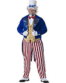 Adult Uncle Sam Plus Size Costume- Deluxe