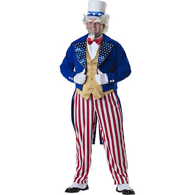 Uncle Sam Deluxe Adult Mens Plus Size Costume