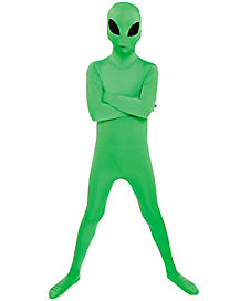 Kids Alien Skin Suit Costume