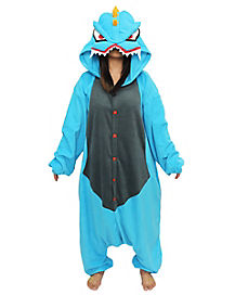 Adult Onesie Anime Blue Monster Costume