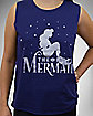 Silhouette The Little Mermaid Muscle Tank Top
