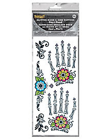Day of the Dead Flower Arm Bone Tattoo