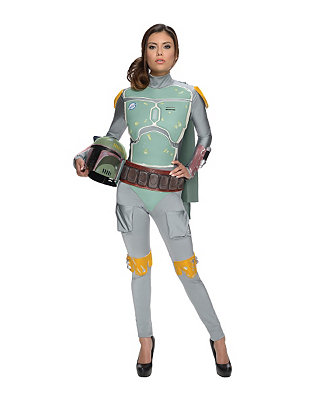 Click Here to buy Star Wars Boba Fett Jumpsuit Womens Costume from Spirit Halloween