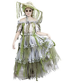 Zombie Southern Belle Girls Costume