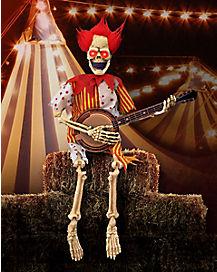 Banjo Playing Skeleton Clown - Decorations