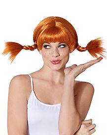Red Wire Pigtail Wig