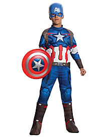 Kids Captain America Costume Deluxe- Avengers: Age of Ultron