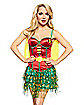 Adult Caped Satin Robin Corset - DC Comics