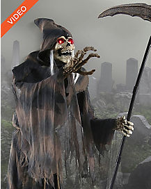 6 Ft Lunging Reaper Animatronics - Decorations