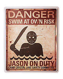 Jason On Duty Sign Decorations - Friday the 13th
