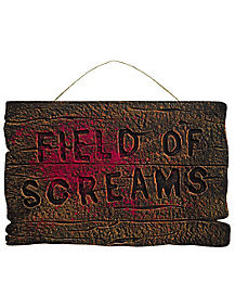 Field of Screams Foam Sign - Decorations