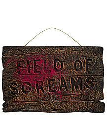 Field of Screams Foam Sign - Decorations
