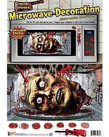 Severed Head Microwave Door Cover - Decoration