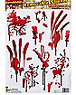 Bloody Bathroom Tile Cling - Decorations
