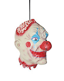 Gruesome Hanging Clown Head - Decorations
