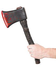 Blood Spatter Wooden Axe