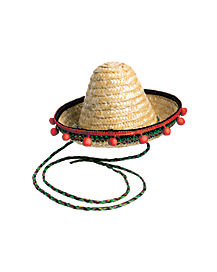 Mini Sombrero Hat With String