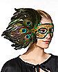 Peacock Feather Eye Mask