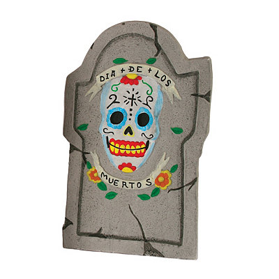 Day of the Dead Large Skull Tombstone