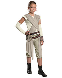 Kids Rey Costume Deluxe - Star Wars Force Awakens
