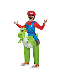 Kids Mario Riding Yoshi Inflatable Costume - Mario Bros