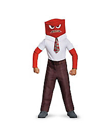 Inside Out Anger Boys Child Costume