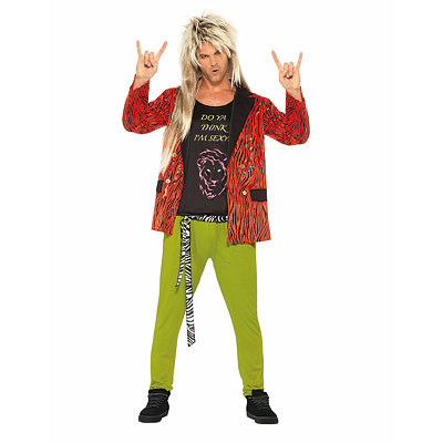 80s Rock Star Adult Mens Costume