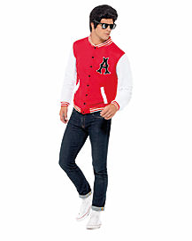 50s Jock Letterman Jacket Adult Mens Costume