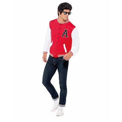 1950s Men's Costumes Adult Jock 50s Letterman Jacket $24.99 AT vintagedancer.com
