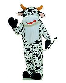 Adult Moo Cow Mascot Costume - Deluxe