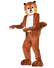 Adult Scamper the Squirrel Mascot One Piece Costume