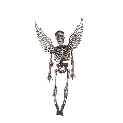 14'' Winged Silver Skeleton