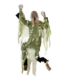 5 Ft Green Climbing Dead Man - Decorations