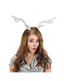 Silver Glitter Deer Antlers