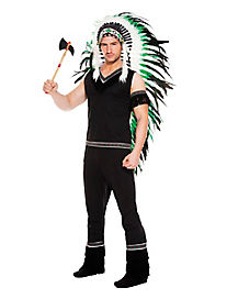 Adult Warrior Chief Native American Costume