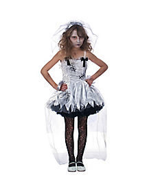 Kids Zombie Flower Girl Child Costume