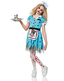 Kids Deadly Diner Zombie Costume
