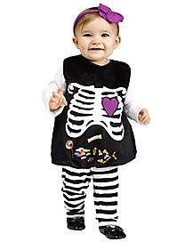 Baby Belly Skelly Skeleton Costume