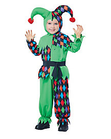 Toddler Junior Jester One Piece Costume