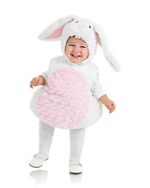 Toddler Belly White Rabbit Costume