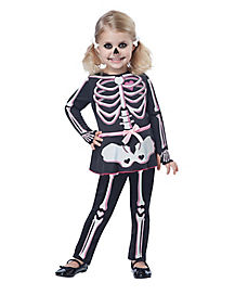 Toddler Itty Bitty Bones Skeleton Costume