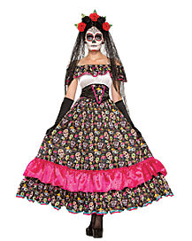 Day of Dead Spanish Lady Womens Costume