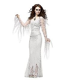 Ghostly Lady Adult  Womens Theatrical Costume